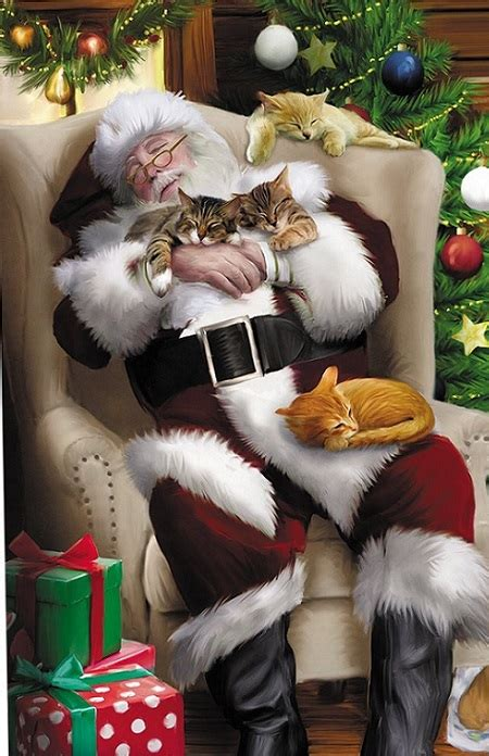 cute  funny cat christmas cards absolute christmas