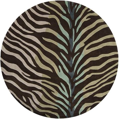 blue zebra rug tufted brown blue zebra animal print retro chic rug 8 13400609 overstock