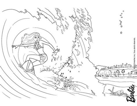 coloring pages surfer girl barbie mermaid tale coloring pages merliah and eris