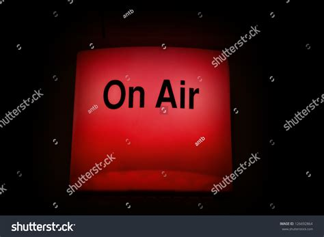 radio on air light on air warning light used live stock photo 126692864