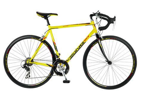mens lightweight cycling viking jetstream 700c lightweight mens road bike yellow 14