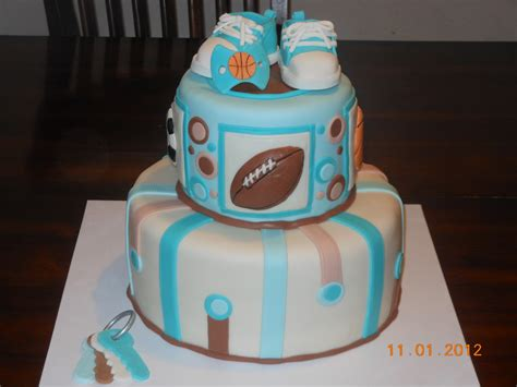 boy themed baby shower cakes it s a of cake sports baby boy shower cake