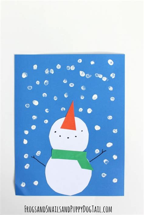 Paper Winter Crafts - paper snowman winter craft allfreekidscrafts