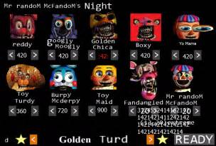 Five night s at freddy s 2 golden turd night by syobonaction4 on