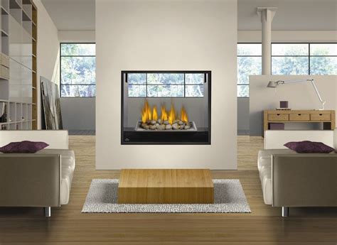 glass rock fireplace napoleon fireplace hd81nt see throuugh modern direct vent