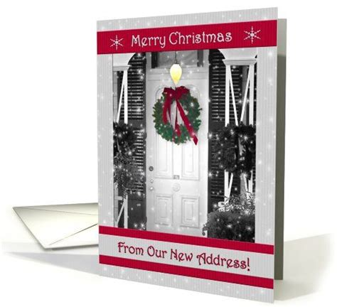 pin  christmas cards  address weve moved