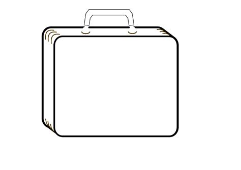 suitcase box template luggage tag template free clipart best