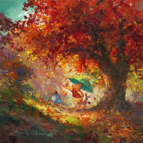 winnie the pooh painting autumn leaves gently falling winnie the pooh treasures on