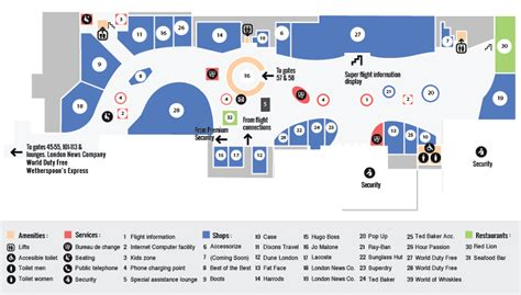 gatwick airport floor plan gatwick north terminal maps gatwick airport guide