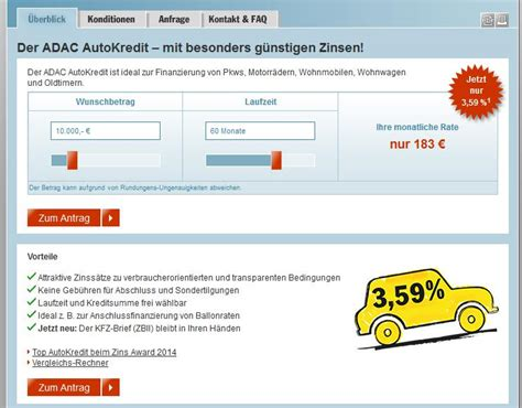 Adac Autoversicherung Erfahrungen by Adac Test 187 Erfahrungen Zum Adac Kredit 08 2018