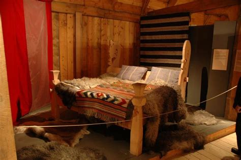 viking bed a viking bed in a museum in the lofoten islands norway