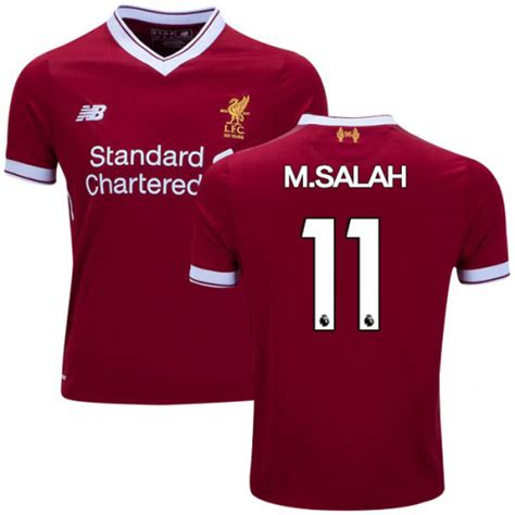 Tshirt Liverpool Mane And Salah Sepaket m salah 11 liverpool fc home soccer jersey replica 17 18 sportworld on artfire