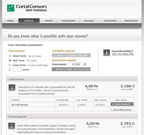 bank cortal consors banking cortal consors musterdepot er 246 ffnen