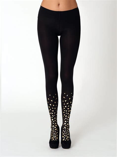 gold pattern leggings golden fragments tights shops gold pattern and products