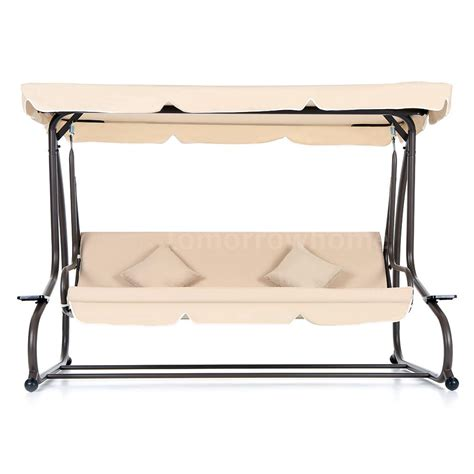 patio swing folds into bed ikayaa dual use outdoor patio garden swing chair folding