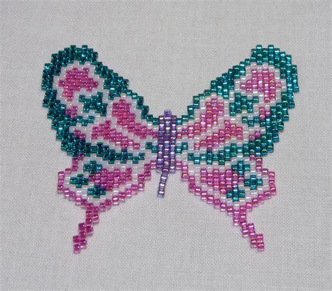 Beaded Flora Peyote Butterfly