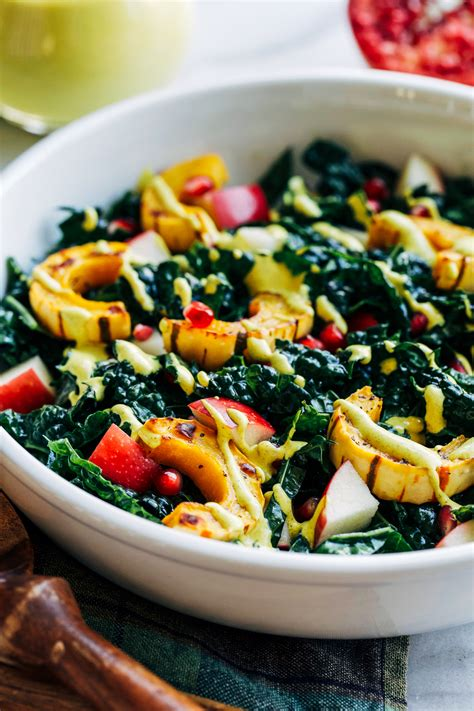 fall harvest salad with turmeric dressing making thyme for health