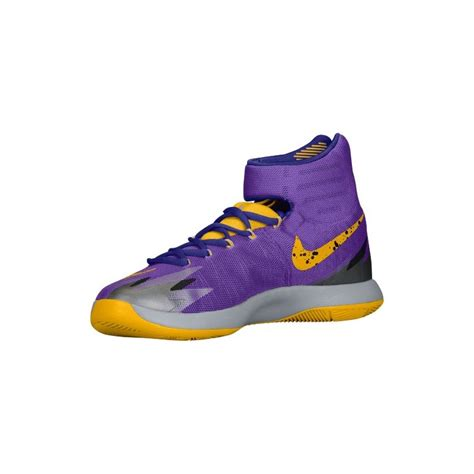 hyper zoom basketball shoes purple and gold nike shoes nike zoom hyper rev s