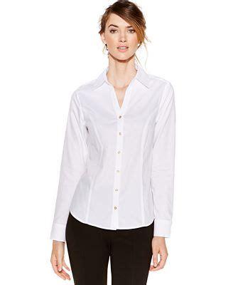 Macy S White Button Blouse by Calvin Klein Non Iron Button Top Tops Macy S