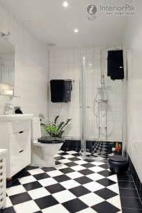 black and white tiled bathroom ideas modern black and white floor tiles in the bathroom