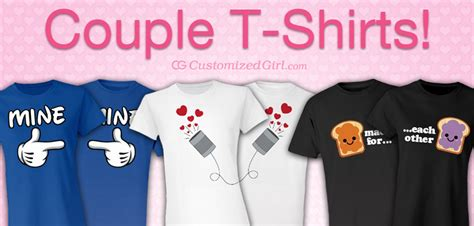 Matching Valentines Day Shirts For Couples Shirts Customizedgirl