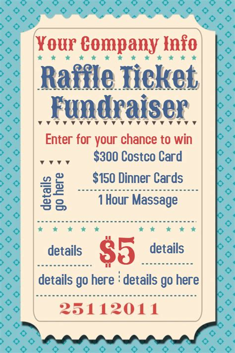 Raffle Template Flyer