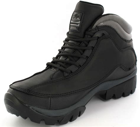 mens safety boots leather steel toe caps ankle trainers