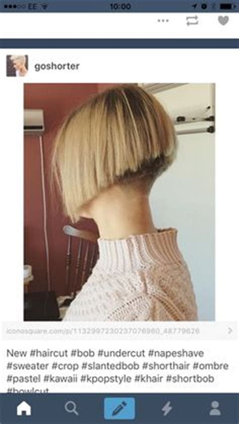 jaw length bob cut with a graduated nape short lovely weight line on this chin length bob with nape