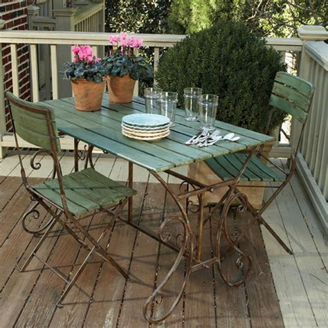 Porch Table And Chairs by Left Bank Cafe Table Chairs Eclectic Patio Furniture