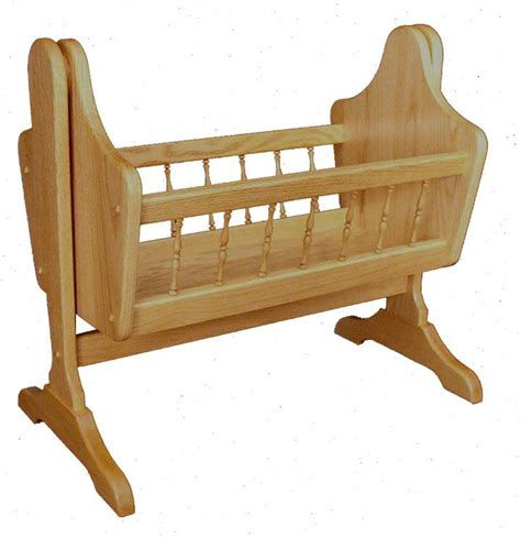 dolls swinging crib oak wood swinging doll cradle from dutchcrafters amish