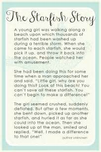 Starfish story for teachers