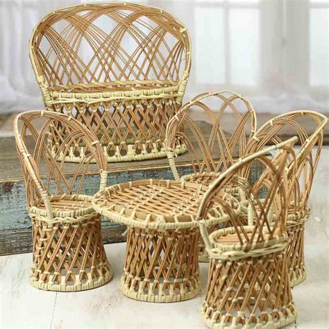 wicker table and chairs set miniature wicker table and chairs set miniatures sale