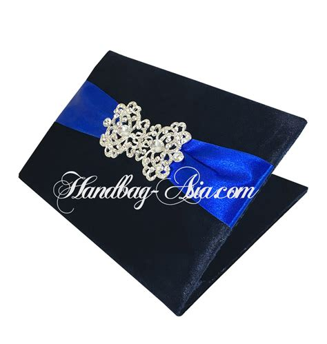 midnight blue books midnight blue velvet pocket folio invitations handbag