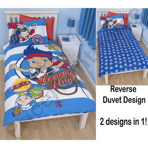 Jake And The Neverland Bedding by Jake The Neverland Bedroom Duvet Covers Curtains Single Ebay