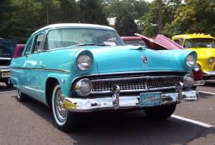 1955 Ford Customline 1955 Ford Customline Blue W White Top