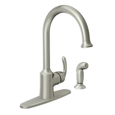 moen one handle kitchen faucet moen bayhill single handle high arc kitchen faucet at menards 174