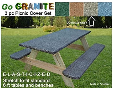 go granite stretch to fit 3 pc vinyl picnic table cover