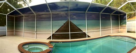 pool screen privacy curtains private screens
