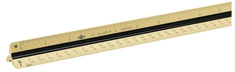 Alvin 270p Architects Scale Architects by Alvin 270p Plastic Architects Scale Ruler Boxwood Color
