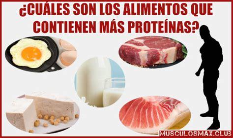 alimentos contienen mas proteinas  aumentar  muscular musculos max