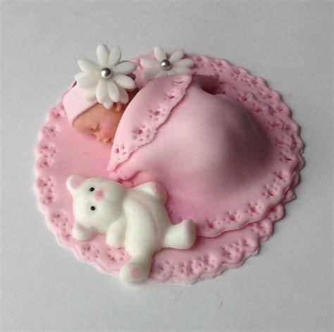 Fondant Baby Shower by Baby Shower Cake Fondant Cake Topper Baby Edible Cake