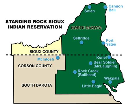 standing rock reservation map image standing rock indian reservation map
