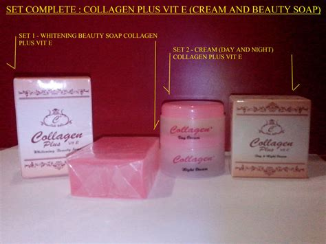 Collagen Plus Vit E Whitening Soap collagen plus vitamin e day and vitamin e