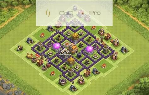 coc town hall 7 coc anti base town hall 7 hybrid th7 war farming