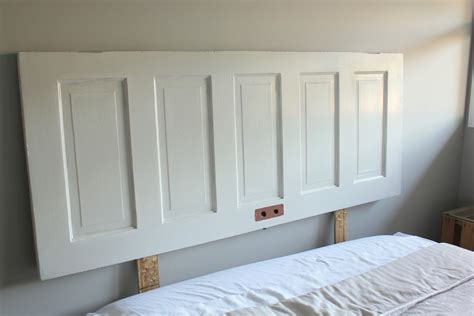 headboard from door door headboard how to make a door headboard via my