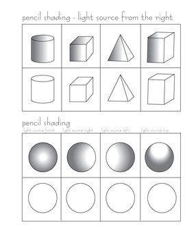 Shading Worksheet by Pencil Shading Worksheets Pencil Shading Activity