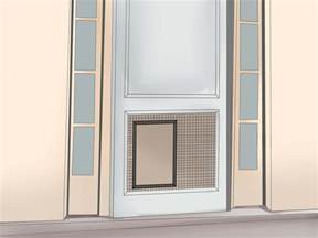 doors with built in door 3 ways to install a pet door or door wikihow