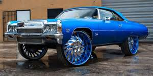 chevy donk squatting on 32 s big rims custom wheels