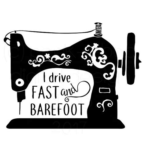 svg sewing pattern i drive fast and barefoot sewing svg cut file silhouette cut