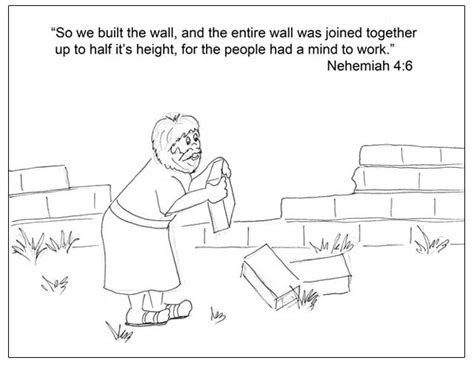 crafts for nehemiah rebuilding the wall